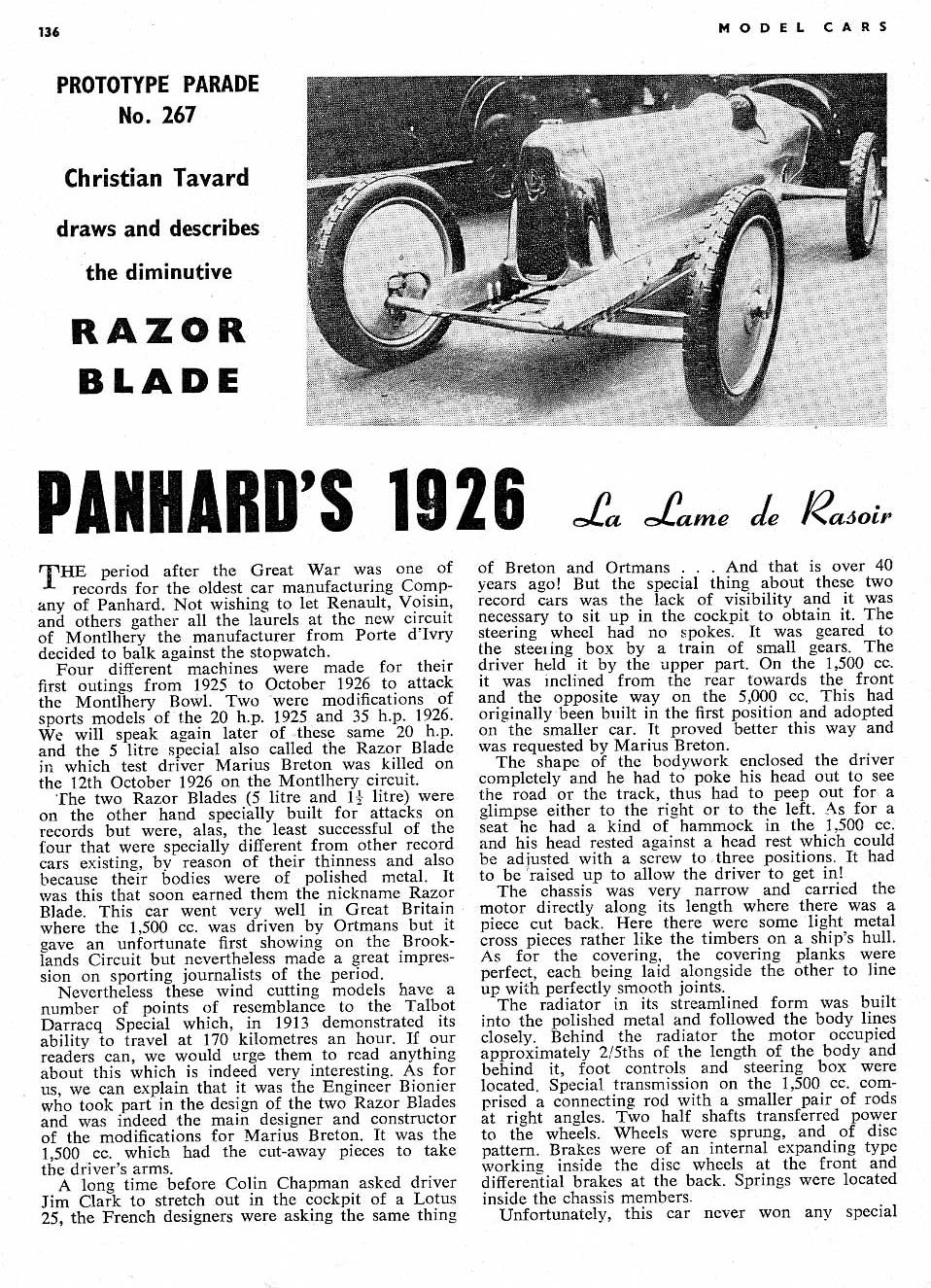 Proect Planning Selecting The Steed Cyclekart Tech Forum Wiring On Mga 1600 Mg Experience Forums Panhard I Am Eyeballing Is 1926 La Lame De Rasoir Razor Blade